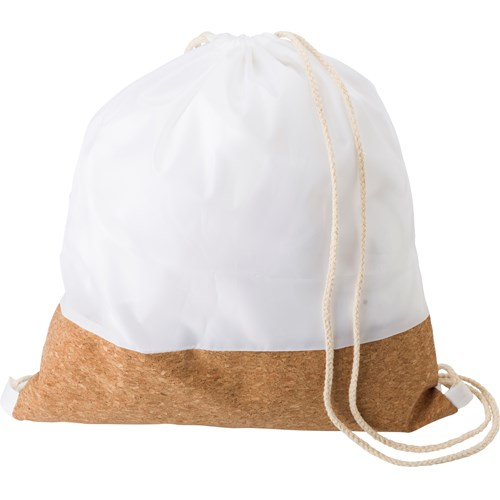 RPET and cork drawstring backpack 437832_002 (White)