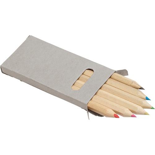 Six colour pencil set 2432_003 (Grey)