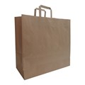 Budget paper bag, Flat handles - 450 x 160 x 480 mm X300310_011 (Brown)