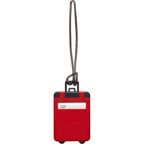 Plastic luggage tag                                 3167_008 (red)