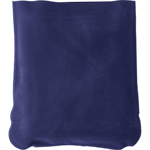 Inflatable velour travel cushion 9651_005 (blue)