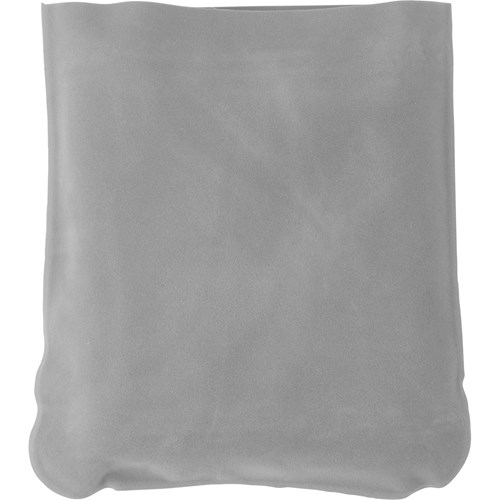 Inflatable velour travel cushion 9651_027 (light grey)